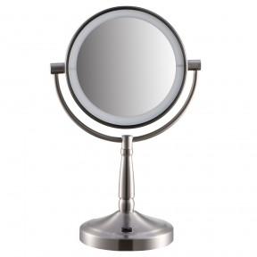 S718 胜鸿欧式7寸LED化妆镜 台式双面梳妆镜 反面10倍放大
